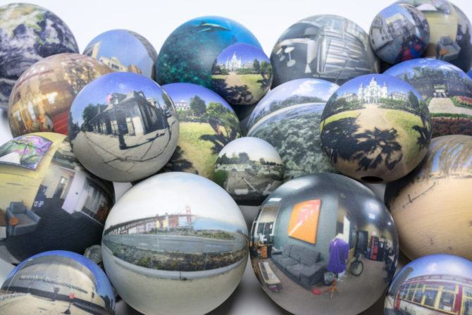 This company raised a million dollars to print 360º photographs onto spheres
