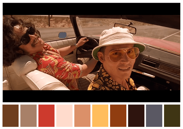Cinema Palettes breaks downs the colors from popular movies