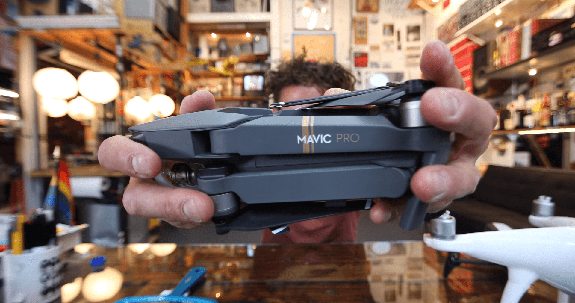 The DJI Mavic Pro footage looks like a cheap HD action