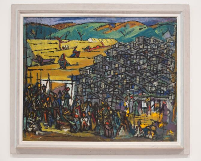 Ma'abara by Marcel Janco (1949) in the Tel Aviv Museum of Art