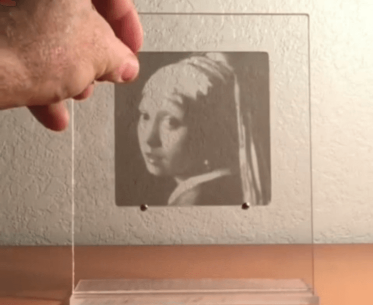 CMYK process explained with only four acrylic coasters