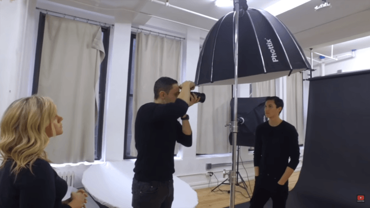 How to create great portraits using only one light overhead