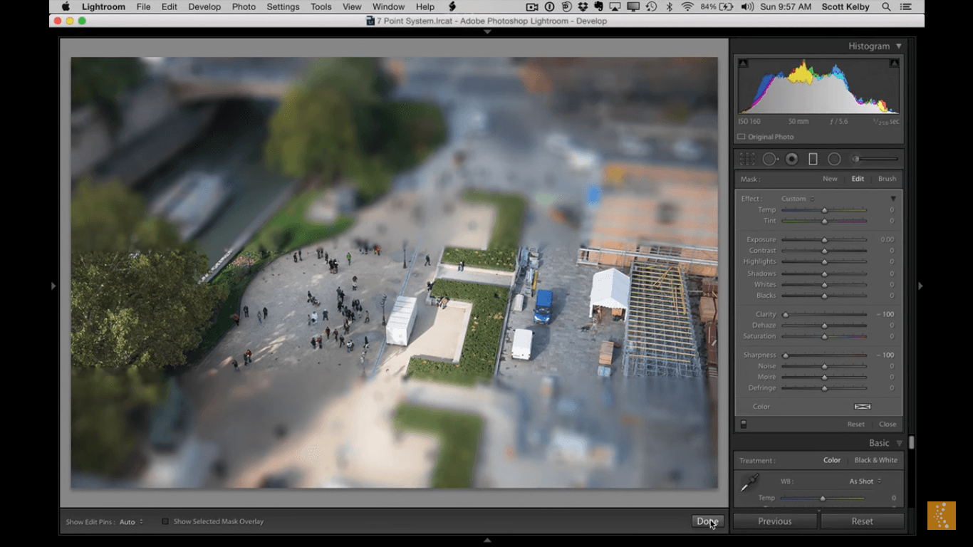 Quick tip: How to make the tilt-shift effect in Lightroom