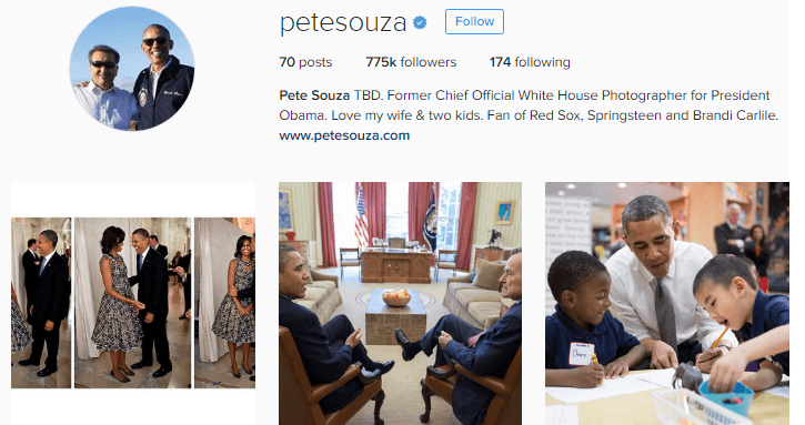 Pete Souza uses his Instagram account to subtly mock Donald Trump