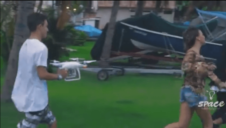 Watch a movie getting made by not flying a drone