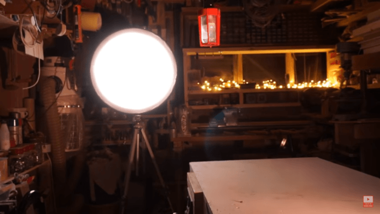 How to make a DIY softbox from an old bicycle wheel