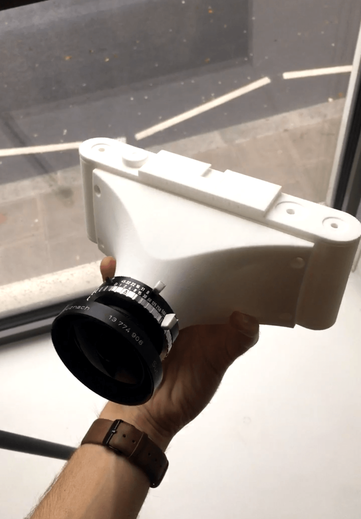 How a student created his own 3D printed medium format