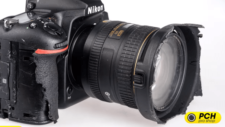 A German shepherd chewed on this Nikon D500 – and it's still working