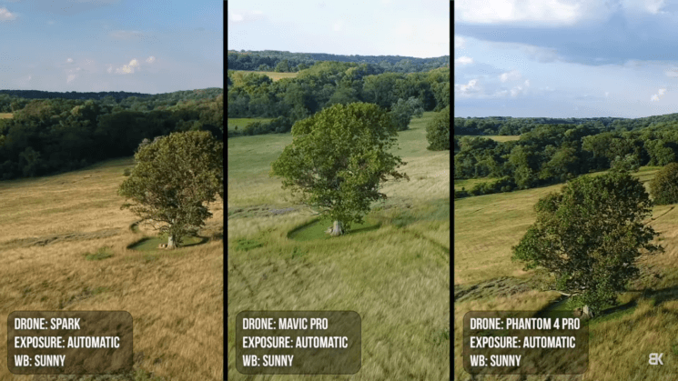 Can DJI Spark's video quality compare to Phantom 4 Pro and Mavic Pro?