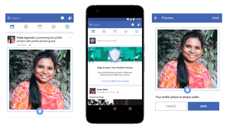 "Facebook tests ""Profile Picture Guard,"" a feature that ..."