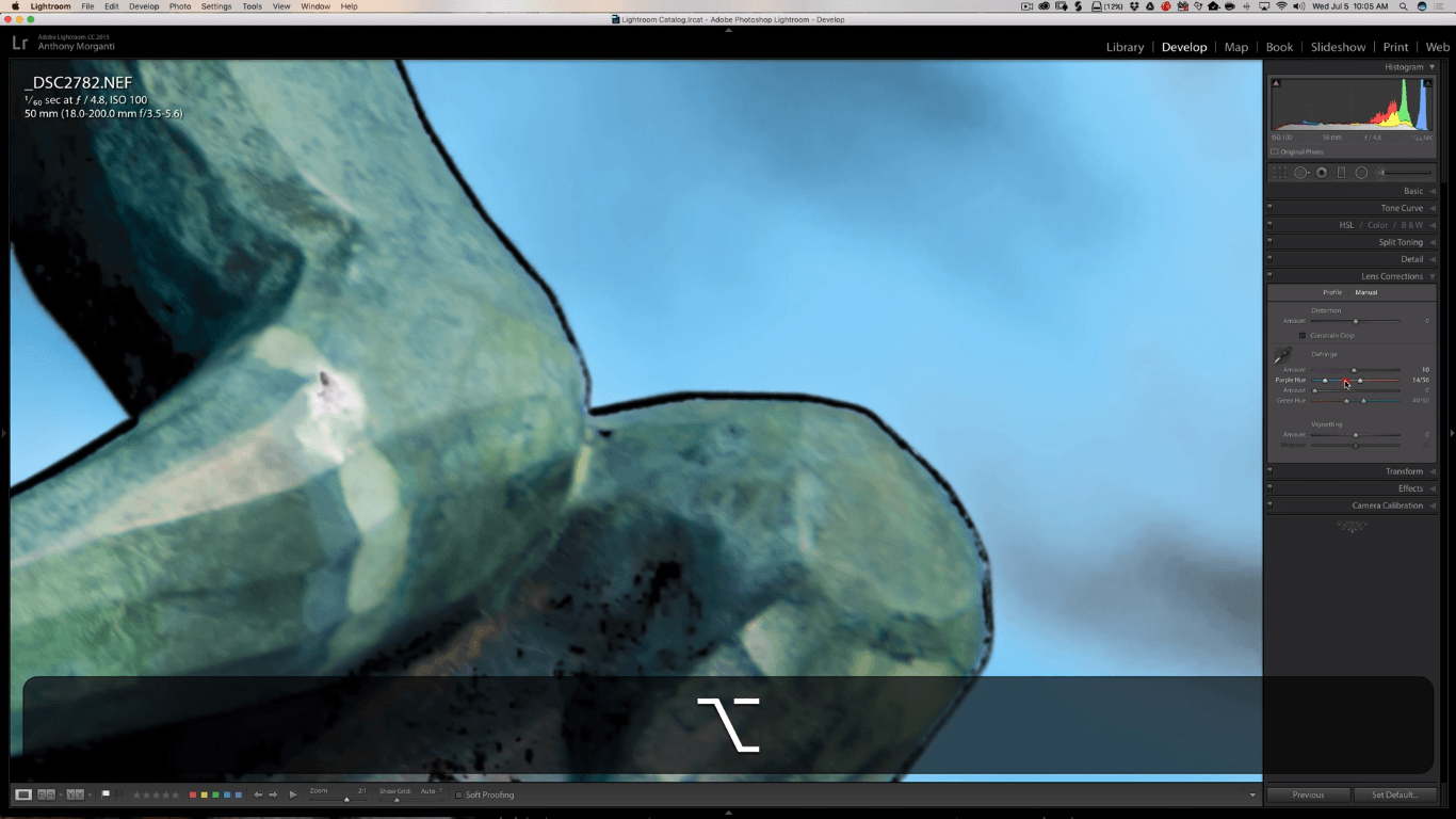 Quick Tip: how to precisely detect and remove chromatic aberration in Lightroom