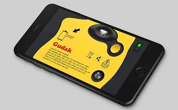 Gudak app turns your expensive iPhone into a disposable camera