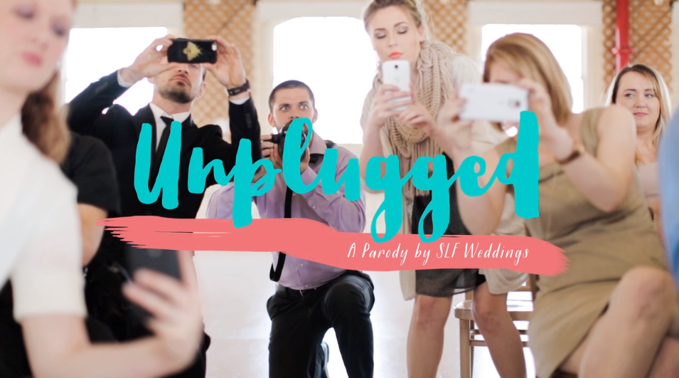 This video is a perfect parody of wedding guests taking photos