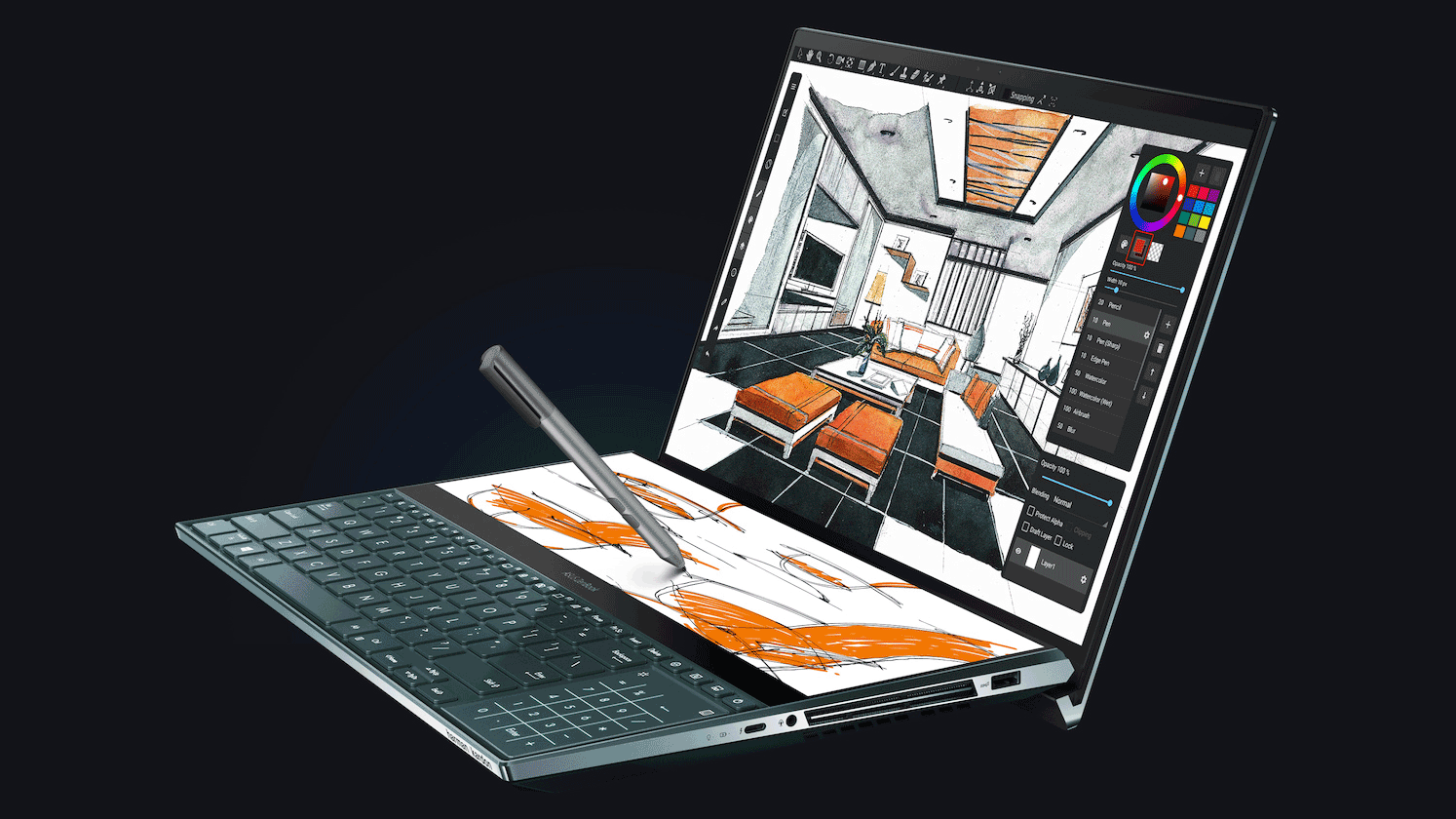 Asus ZenBook Pro Duo Laptop Builds on the MacBook Pro's